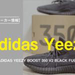 【プレ値スニーカー情報】ADIDAS YEEZY BOOST 350 V2 BLACK FU9006